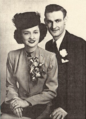 Joyce and Virgil Wedding picture - 459th BG, Army Air Corps Library and Museum