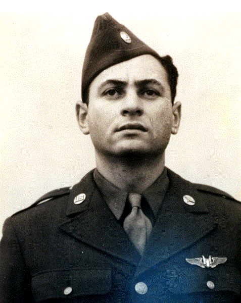 T/Sgt Morris Fishbein in uniform - 459th BG, Army Air Corps Library and Museum