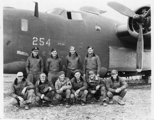Kneeling L to R: - 459th BG, Army Air Corps Library and Museum